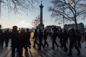 Place de la Bastille, Paris - 18 janvier